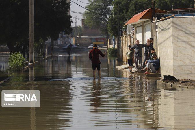 مشکل پسزدگی فاضلاب و آبگرفتگی شرق اهواز کاهش یافت