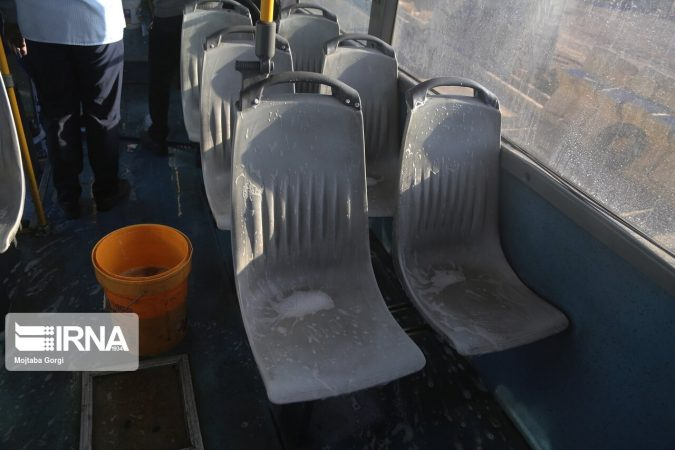 توقف اتوبوسهای شهری اهواز برای پیشگیری از شیوع کرونا
