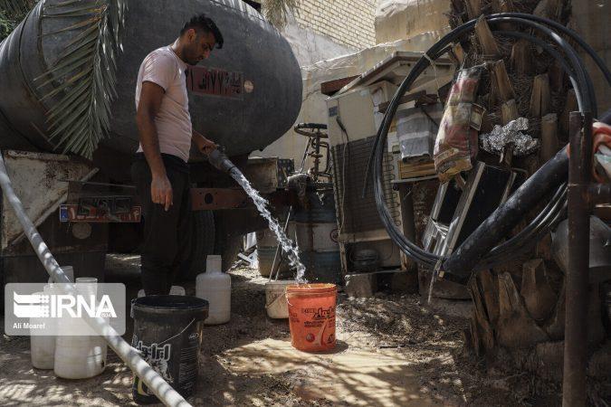 ۴۰ تانکر همچنان به روستاهای غیزانیه آبرسانی میکنند
