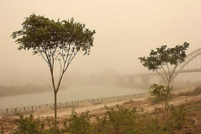 شرجی، تندباد و گرد و غبار در راه خوزستان