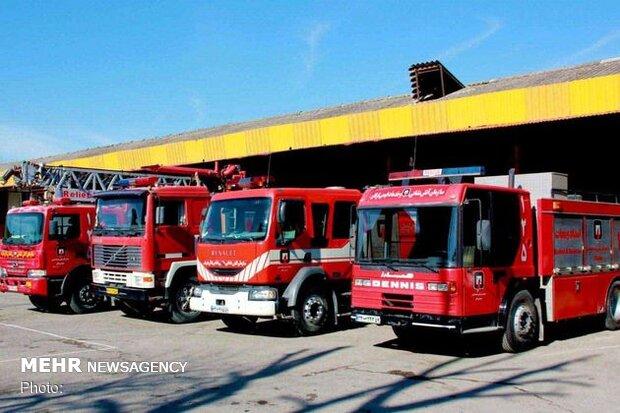 ۱۹ خودرو آتش نشانی در جریان سیل اهواز از گردونه خارج شدند
