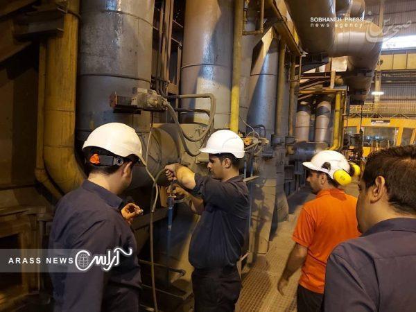 گزارش تصویری از اورهال برنامه ریزی شده شرکت فولاد اکسین
