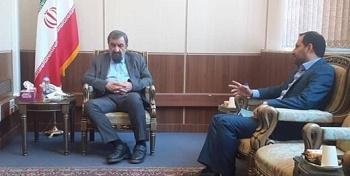 دیدار شهردار اهواز با محسن رضایی/ وعده پیگیری پرداخت عوارض آلایندگی نفت به اهواز