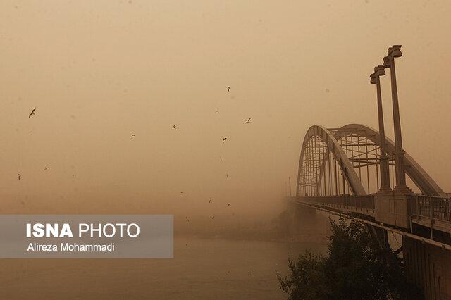توده خاک خارجی در آسمان خوزستان