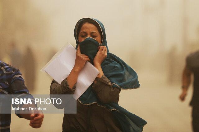 ورود توده خاک به شهرهای غربی خوزستان
