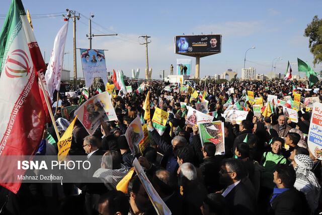 تقدیر استاندار و نماینده ولی فقیه در خوزستان از حضور مردم در راهپیمایی ۲۲ بهمن