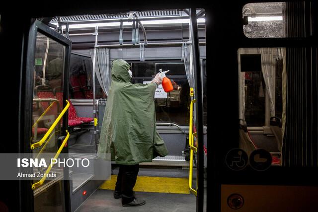 دستور ضدعفونی اتوبوسهای شهری اهواز صادر نشده است
