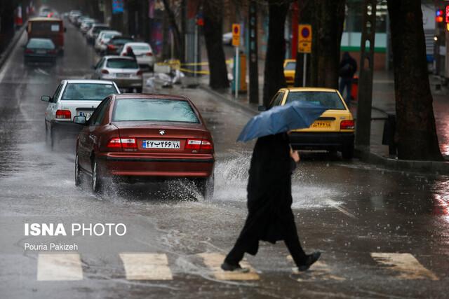 احتمال بارش تگرگ در ۷ استان کشور