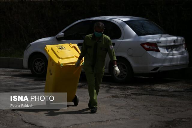 جداسازی زبالههای بیماران کرونایی در اهواز