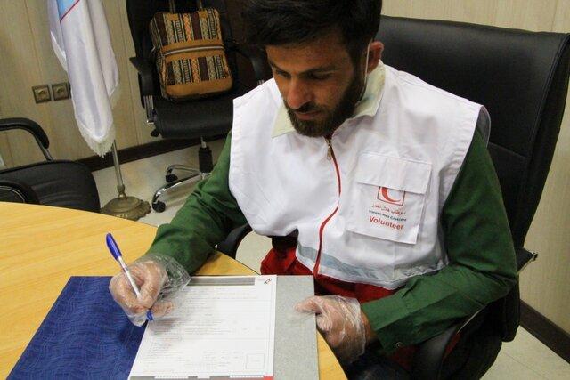 تقدیر هلال احمر خوزستان از جوان فداکار حادثه کلینیک سینا