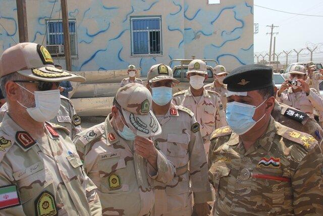 ملاقات اضطراری فرمانده مرزبانی ناجا با کلانتر مرز العماره عراق