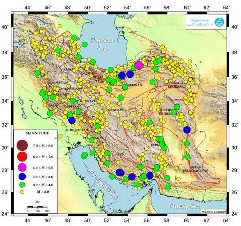 ایران بیش از ۸۰۰ بار لرزید