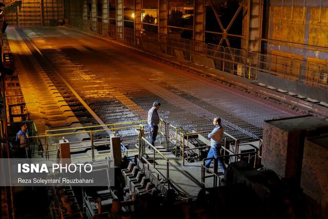 توقف یک خط تولید تیرآهن در گروه ملی فولاد برای کاهش مصرف برق