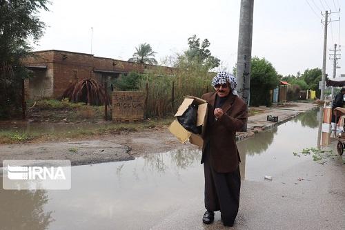 مردم شهرکوتعبدالله همچنان در محاصره فاضلاب و آب باران