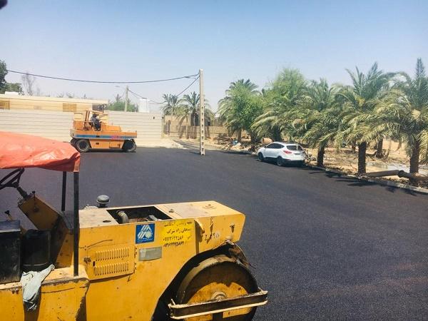 معاون هماهنگی امور عمرانی فرماندار اهواز:معابر و خیابان های ۱۰ روستای اهوازآسفالت شد